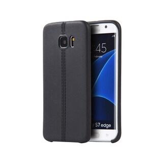 Samsung Galaxy S7 Edge Slim Jacket TPU Case with Leather Finish