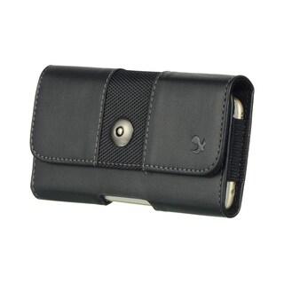 Mega 6.3 LG G Flex Black Leatherette Horizontal Pouch Case