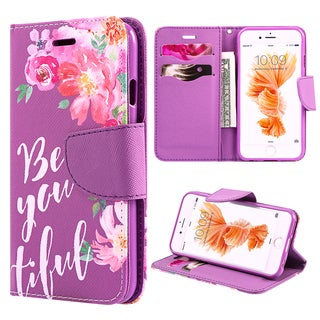 'Be-You-Tiful' Apple iPhone 6/6S Trendy Leather Flip Wallet Case
