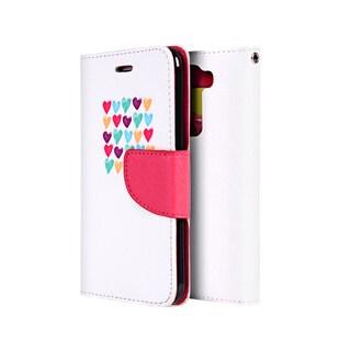 'Love M Always' LG K7/LG Tribute 5 Trendy Leather Flip Wallet Case