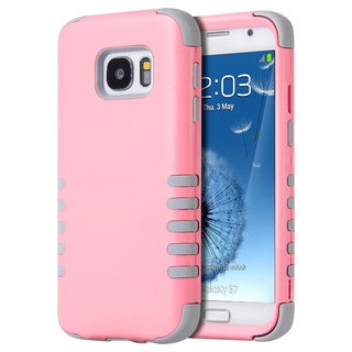 3-Piece Hybrid Light Pink/ Grey Samsung Galaxy S7 Case