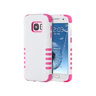 White/ Pink Skin 3-piece Samsung Galaxy S7 Hybrid Case