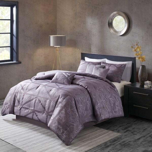 Madison Park Nico Purple Comforter 7-piece Set