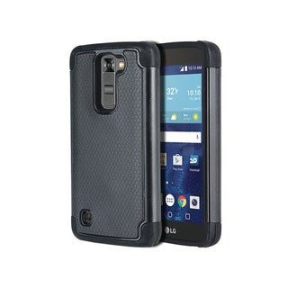 LG K7/LG Tribute 5 TPU Textured-grip Hybrid Case