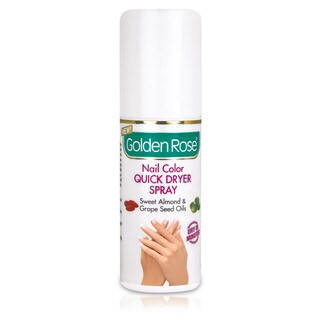 Golden Rose Sweet Almond and Grape Seed Oil Nail Polish Quick Dryer Spray