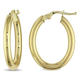 Miadora 10k Yellow Gold Hoop Earrings