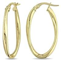 Miadora 10k Yellow Gold Classic Twisted Hoop Earrings