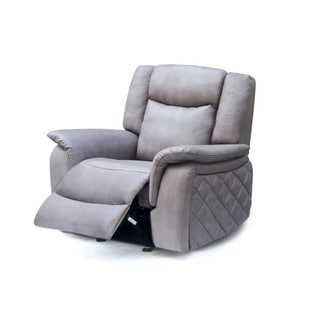 Meridian Carly Grey Leather Glider Recliner