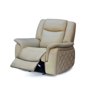 Meridian Carly Taupe Leather Glider Recliner