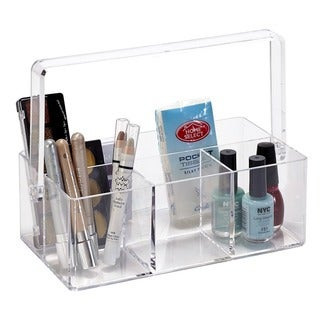 Simplify 4-compartment Multifunctional Acrylic Holder with Carry Handle