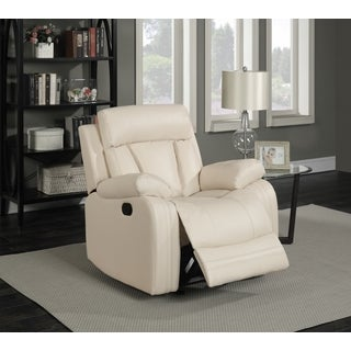 Meridian Avery Beige Leather Glider Recliner