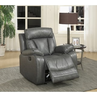 Meridian Avery Grey Leather Glider Recliner