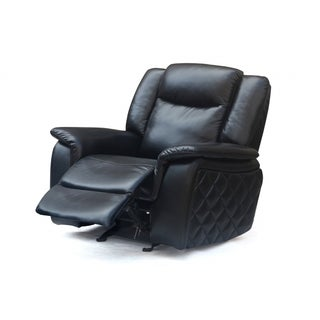 Meridian Carly Black Leather Glider Recliner