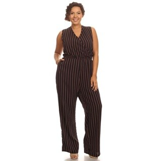 Hadari Women Sleeveless Striped Romper