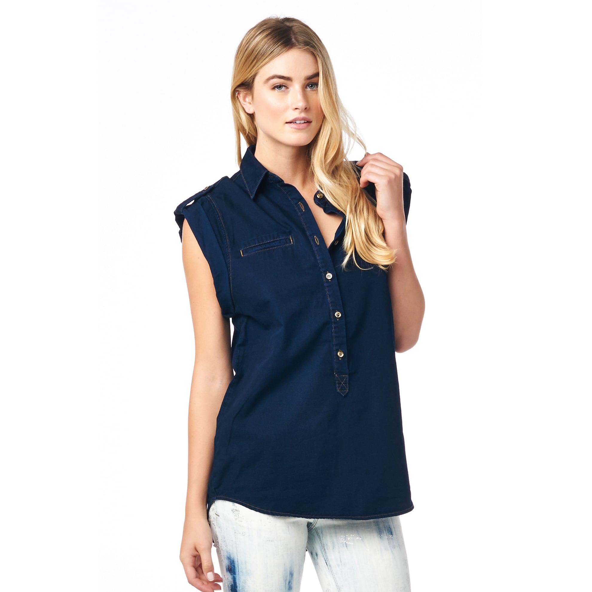 Cult Of Individuality Tao Women's Midnight Denim Shirt (X...