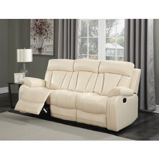 Meridian Avery Beige Leather Sofa