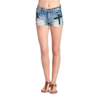 Cult of Individuality Denim Acid-washed Rockability Shorts