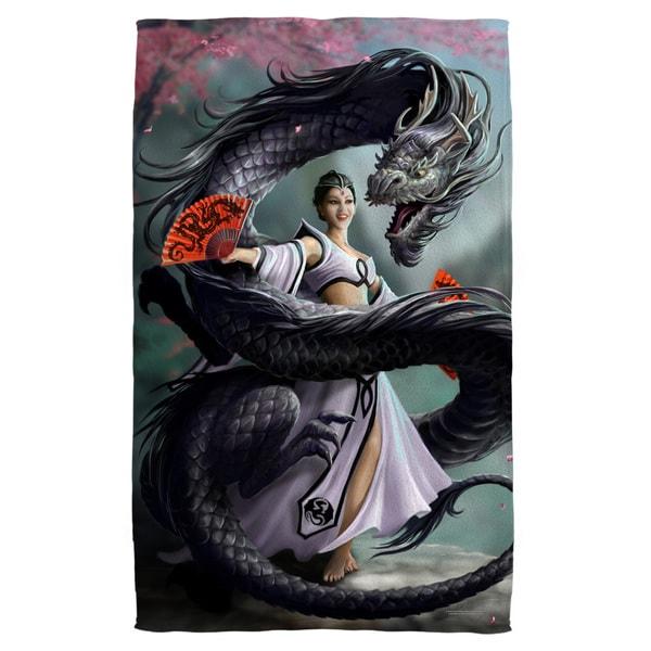 Anne Stokes/Dragon Dancer Bath Towel