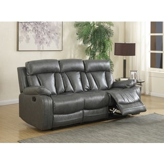 Meridian Avery Grey Leather Sofa