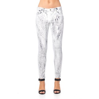 Cult of Individuality Zen Midrise Crackle Skinny Jeans