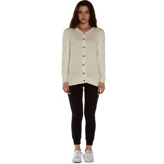 Women's Cotton/Lycra Long-sleeved Round-neck Cardigan Sweater (More options available)