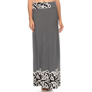 Women's Border Maxi Skirt