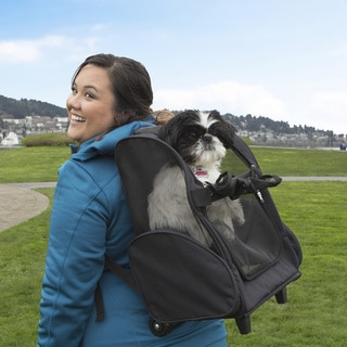 Furhaven Dog Microfiber Pet Backpack/Rolling Travel Pet Carrier