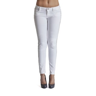 Cult of Individuality White Teaser Skinny Jeans