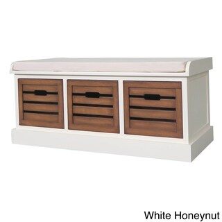 Melody 3-drawer Storage Bench with Cushion