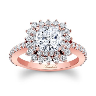 Barkev's Designer 14k Rose Gold 2ct TDW Cushion-cut Engagement Ring (F-G, SI1-SI2)