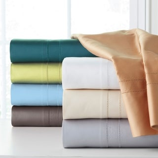620 Thread Count Extra Deep Pocket 100 Percent Cotton Sheet Set With Oversized Flat
