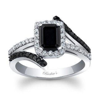 Barkev's Designer 14k White Gold 1 3/4ct TDW Black Diamond Engagement Ring (F-G, SI1-SI2)