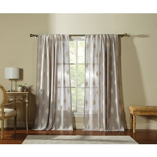Artistic Linen Sebastian 55 inch Wide 84 inch High Window Curtain Panel  with Rod. Hastings Stripe Rod Pocket 55 inch Curtain Panel Pair   Free
