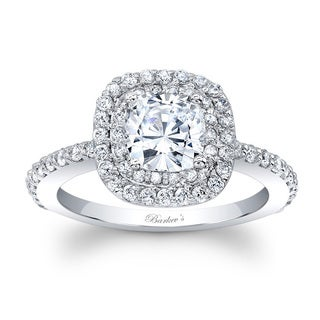 Barkev's Designer 14k White Gold 1 2/5ct TDW Halo Diamond Engagement Ring
