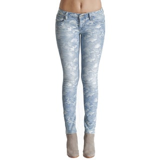 Cult Women's Light-camo Denim Teaser Skinny Jeans