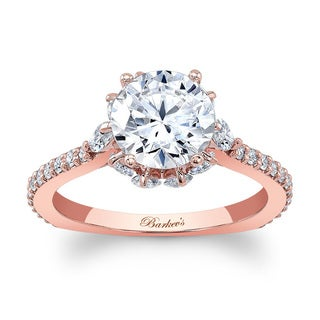 Barkev's Designer 14k Rose Gold 2ct TDW Diamond Engagement Ring (Option: 6.75)