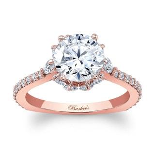 Barkev's Designer 14k Rose Gold 2ct TDW Diamond Engagement Ring