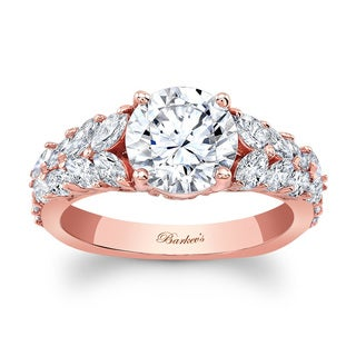 Barkev's Designer 14k Rose Gold 1 7/8ct TDW Round-cut Diamond Engagement Ring