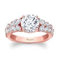 Barkev's Designer 14k Rose Gold 1 7/8ct TDW Round-cut Diamond Engagement Ring