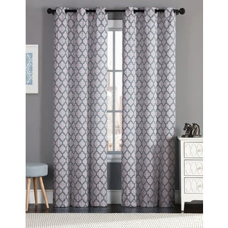 Links 84-inch Single Rod Pocket Back Tab Jacquard Curtain Panel