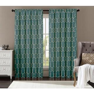 Artistic Linen Sandrah 55-inch x 84-inch Single Rod Pocket Curtain Panel - 55 x 84