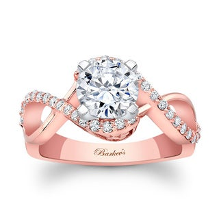 Barkev's Designer 14k Rose Gold 1ct TDW Round-cut Diamond Engagement Ring (F-G, SI1-SI2)