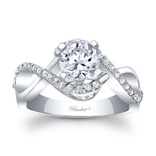 Barkev's Designer 14k White Gold 1ct TDW Round Diamond Engagement Ring (F-G, SI1-SI2)