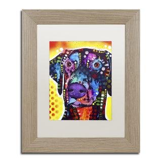 Dean Russo 'Dobie' Matted Framed Art