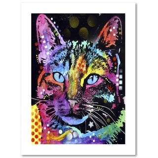 Dean Russo 'Thoughtful Cat' Paper Art