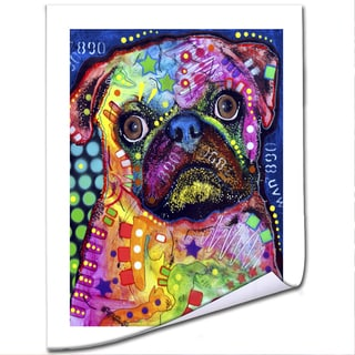 Dean Russo 'Pug 92309' Paper Art