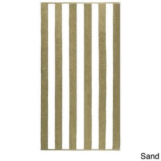 "Anatalya Classic Resort Cabana Stripe 40""x70"" Egyptian Cotton Beach Towel (Option: Sand)"
