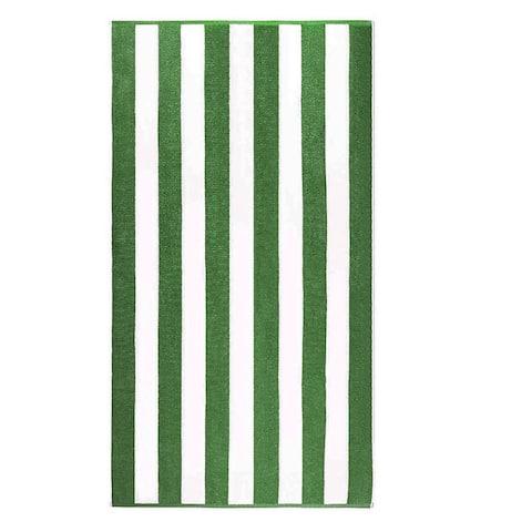 "Anatalya Classic Resort Cabana Stripe 40""x70"" Egyptian Cotton Beach Towel (Set of 2) - 40 x 70 - 40 x 70"