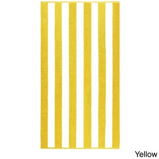 "Anatalya Classic Resort Cabana Stripe 40""x70"" Egyptian Cotton Beach Towel (Set of 2)"