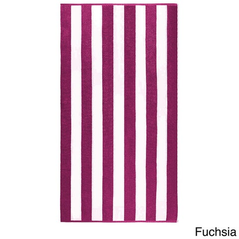 "Anatalya Classic Resort Cabana Stripe 40""x70"" Egyptian Cotton Beach Towel (Set of 2) - 40 x 70"